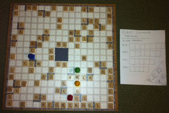 ricochet scrabble game board